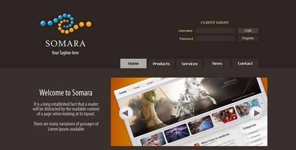 Somara psd web design