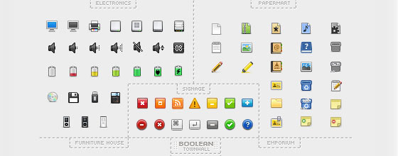 Free High Quality Icon Sets for Web Designers and Developers