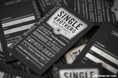 Black Letterpress Business Cards: 15 Elegant Examples