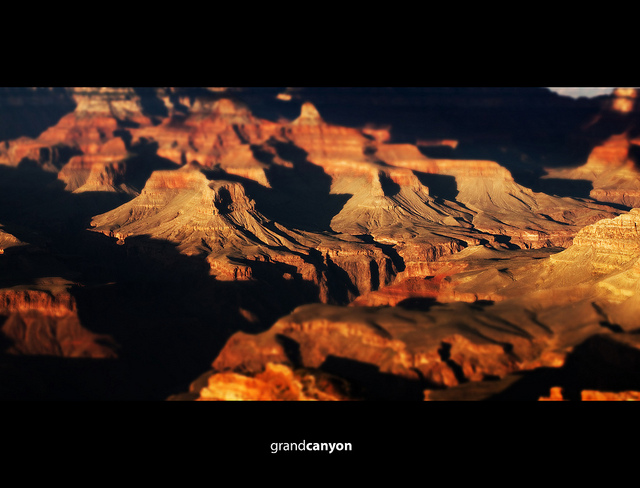 Tilt-shift Grand Canyon