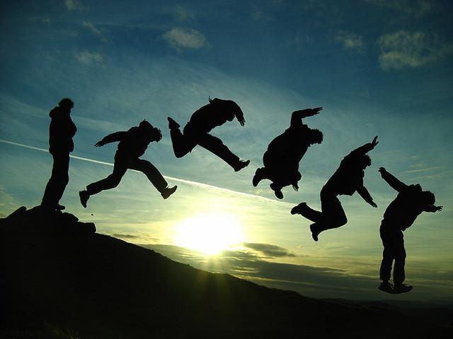 Jumping the Setting Sun