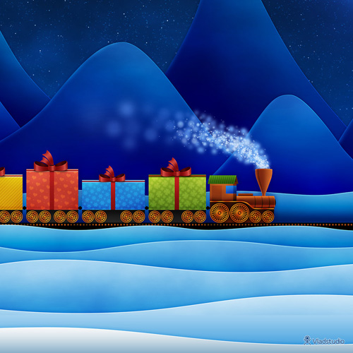 Christmas Train wallpaper