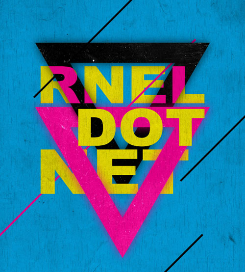 Create Retro CMYK Triangle Text Poster in Photoshop
