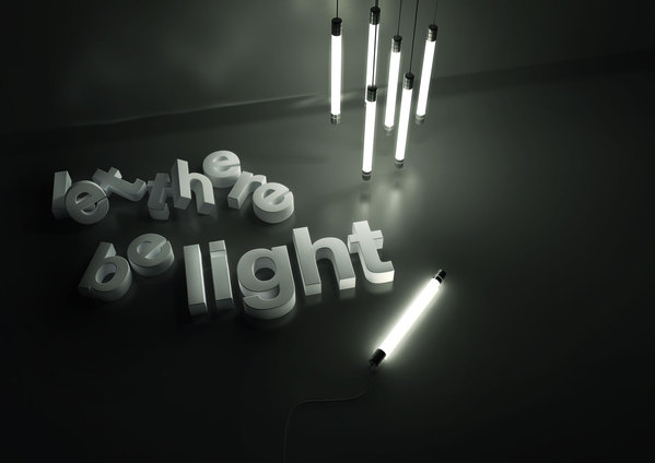 let there be light 3d typography digital art photography inspiration and resources