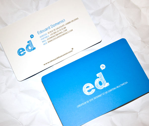 Blue  Business Card Seen On www.coolpicturegallery.us