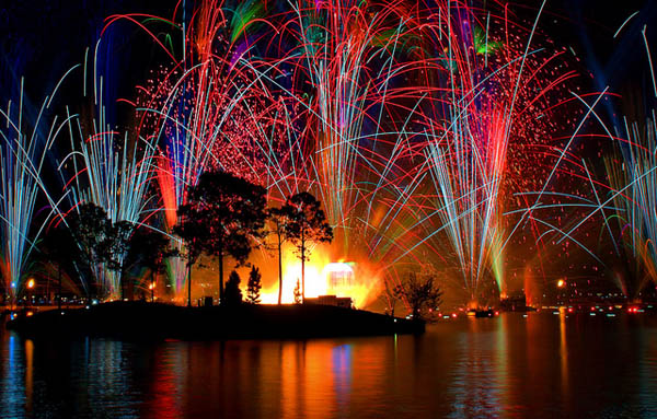 Festive Explosion of  Colorful Firework Seen On www.coolpicturegallery.us