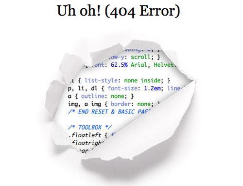 Error 404 Page Tips