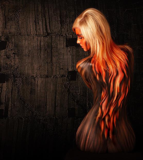 KULT contemporain et Arthurien Flamebodypainting5