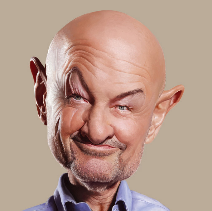 terryoquinn3 25 Hilarious Digital Caricatures Of Famous People