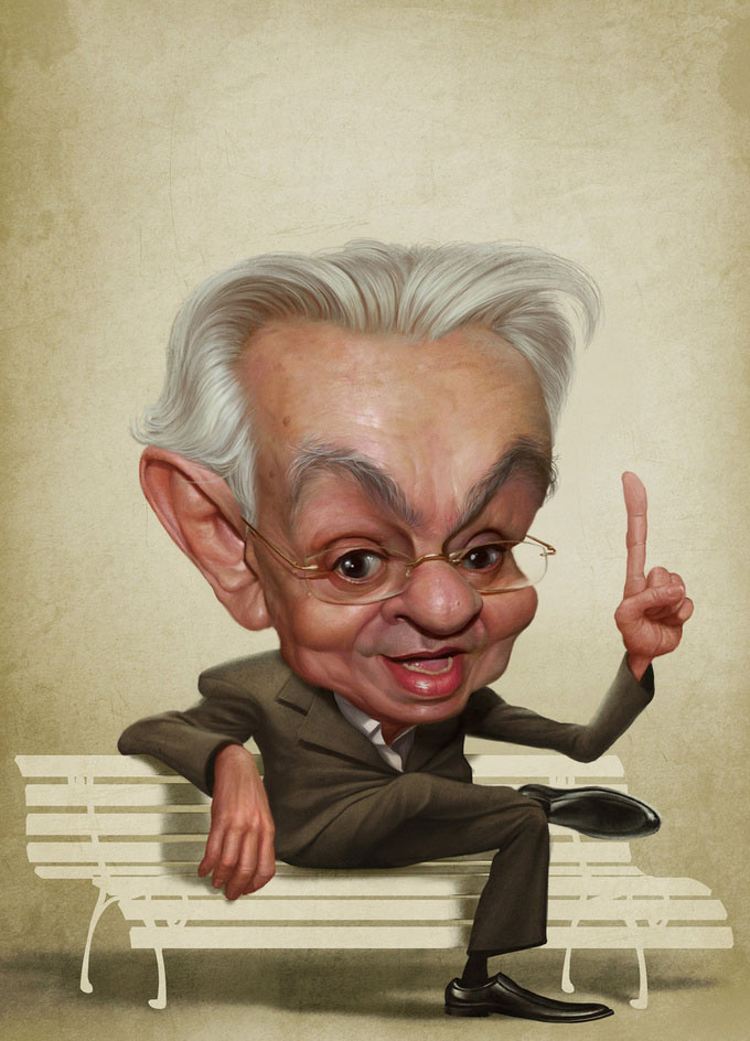 chicoanysio 25 Hilarious Digital Caricatures Of Famous People