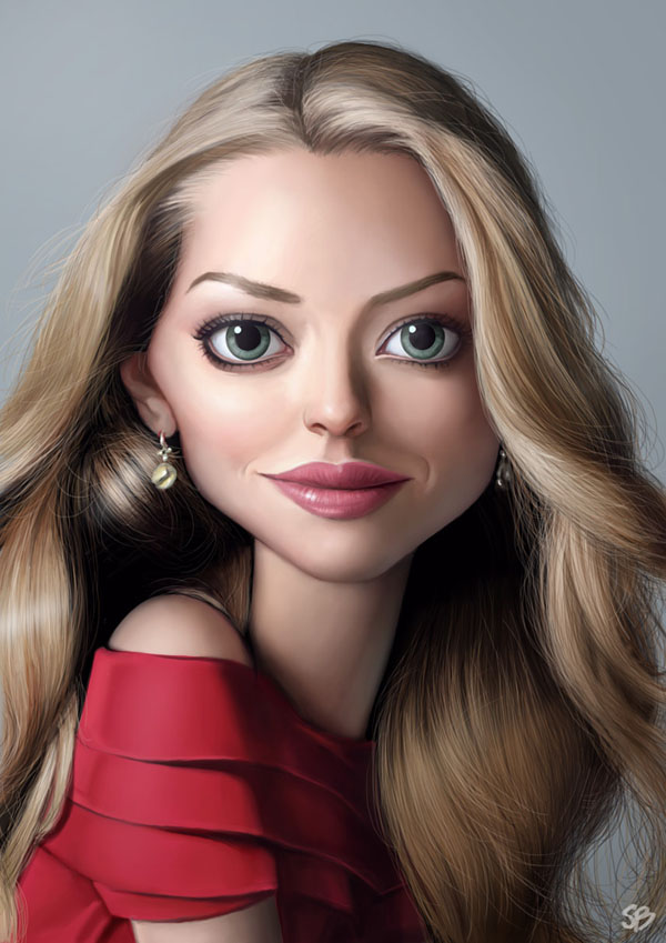 amanda seyfried caricature by papaninja 24 25 Hilarious Digital Caricatures Of Famous People
