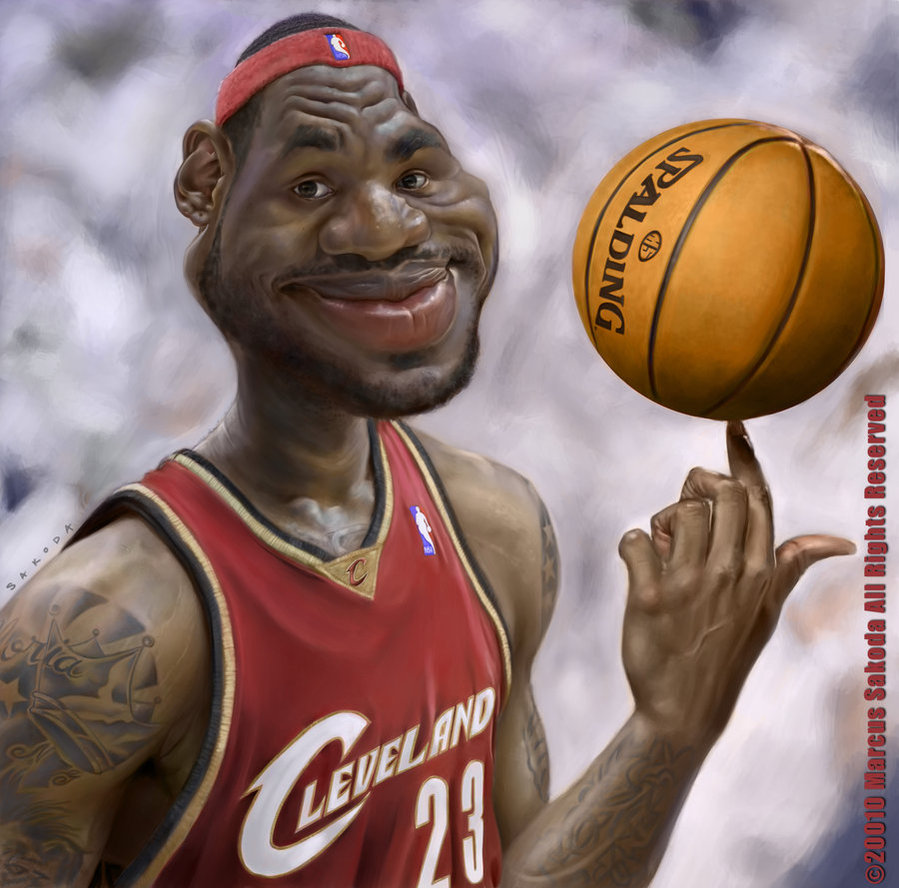 lebron james caricature by jubhubmubfub d3649b021 25 Hilarious Digital Caricatures Of Famous People