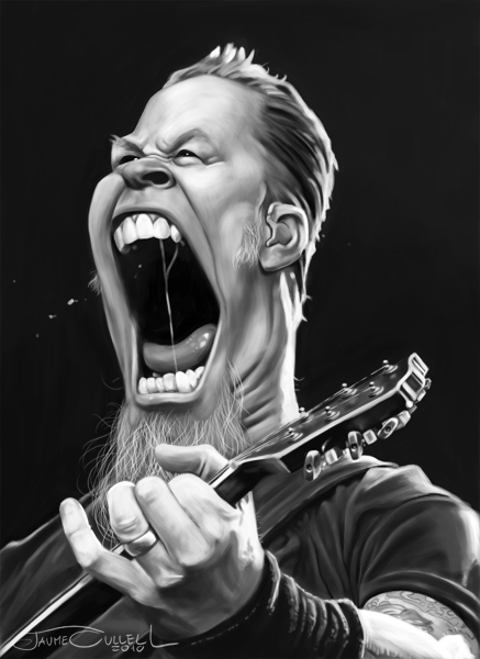 james hetfield by jaumecullell d30s9ja19 25 Hilarious Digital Caricatures Of Famous People