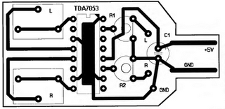 USB Powered Audio Power Amplifier for PC pcb