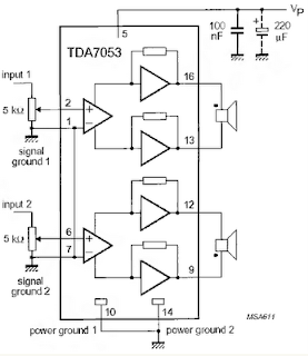 USB Powered Audio Power Amplifier for PC circuit