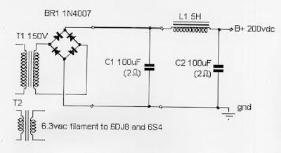 Tube 6S4A + 6N1P 5WATT HI - FI Power Amplifier final 1