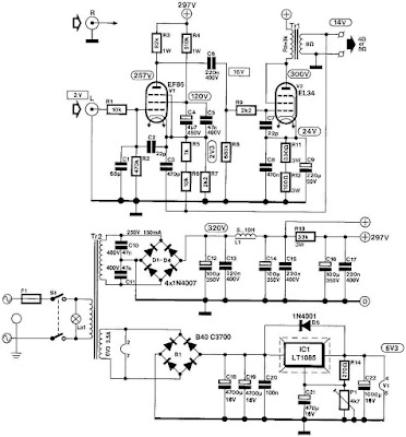 tube EF86 + EL34 8Watt Single-ended HI-FI Power Amplifier