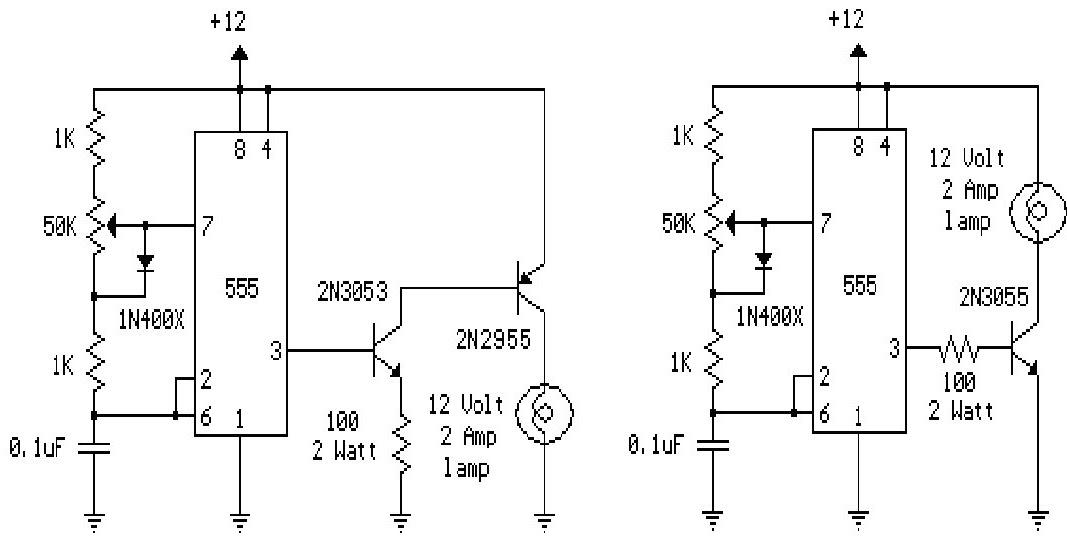 wiring schematic diagram  12 volt lamp dimmer