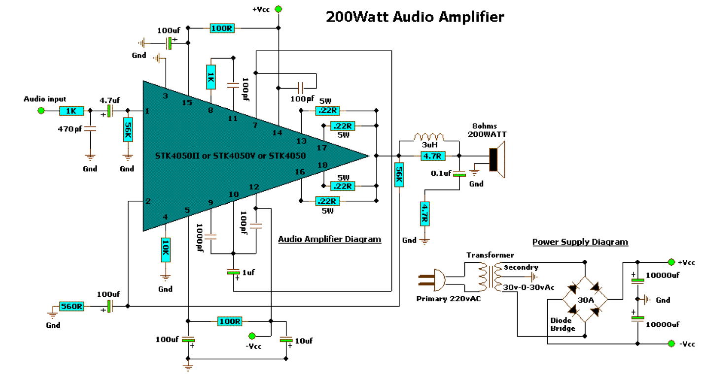 200 WATT AUDIO AMPLIFIER