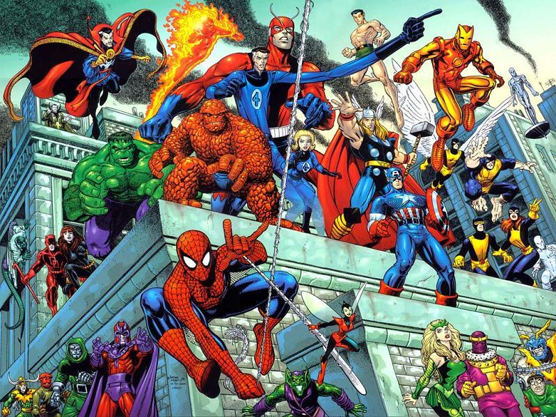 Arthur adams marvel heroes and villains