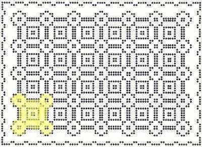 Desenho de uma matriz fechada ressaltando o bloco.