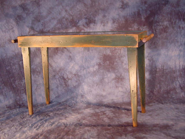This Stressed, Painted Piece Serves Well As Either A Sofa Table Or A Small Scale  Serving Table. The Natural Limb Handles On The Ends Are Both Decorative And  ...