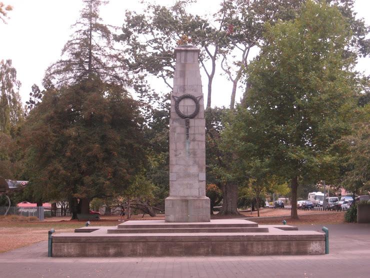 the war memorial located in memorial park