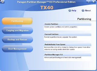 Portable Paragon Partition Manager Professional 9.0