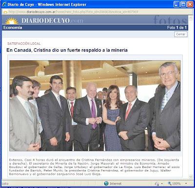 Barrick Gold y CFK-Gioja