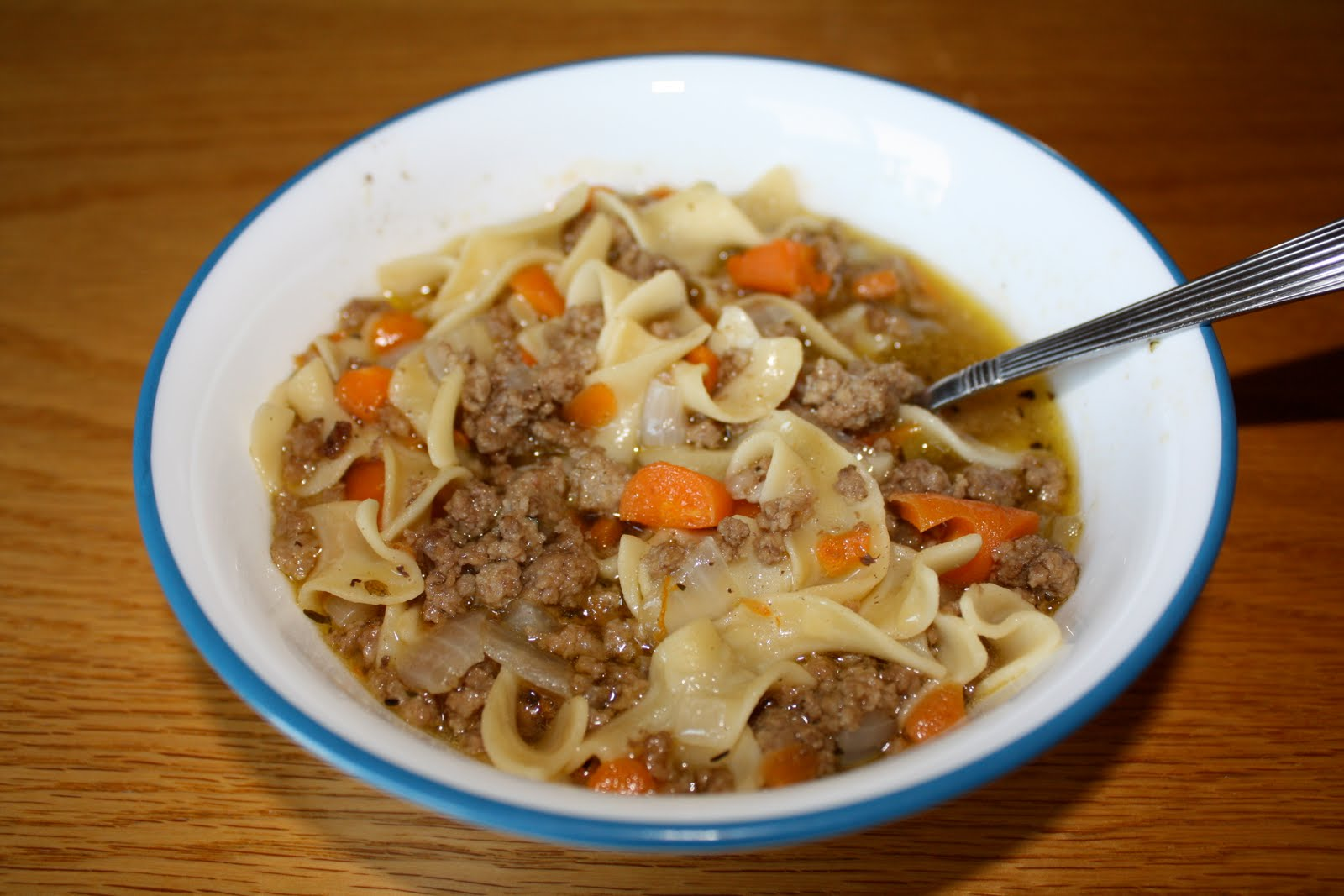 When you're Wright, you're right.: Ground Beef Noodle Soup