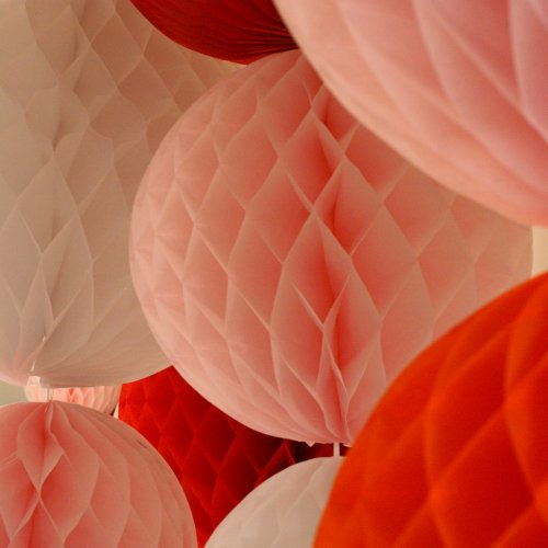 Sparkling events designs trend alert paper honeycombs - Birthday decorations with crepe paper ...