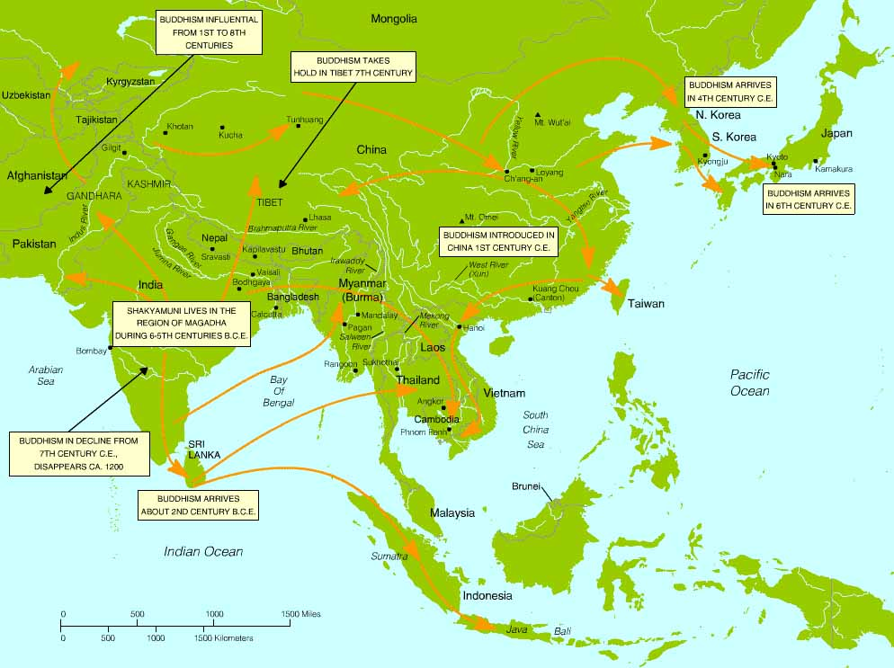 BUDDHISM THE WAY OF LIFE IN THE WorldBuddhism Religion Map
