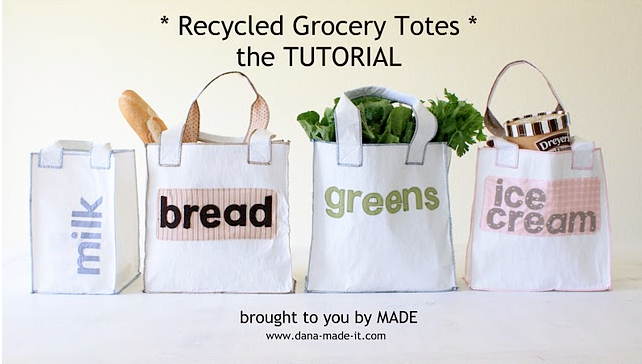Cashier Check Wedding Gift : Arent these Recycled Grocery totes adorable? Click here for the ...