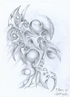Sketsa Pencil Biomechanic