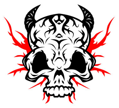 Tribal skull Designs