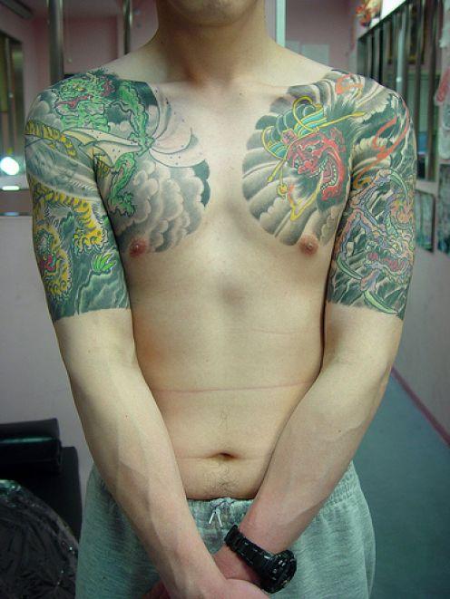 Awesome lotus Flower Japanese Sleeve Tattoo Designs