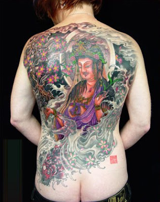 Labels: Buddha Tattoo on His Back