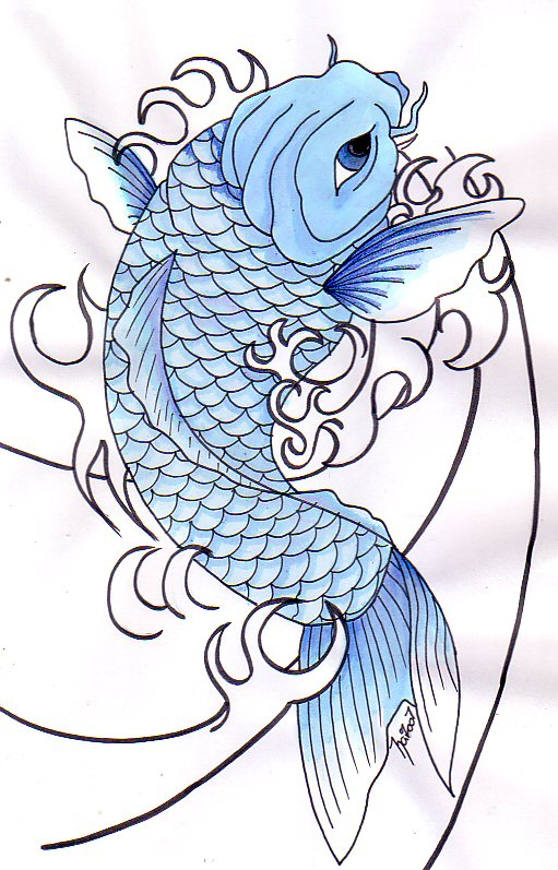 koi fish drawing. Koi Fish Tattoo Ideas