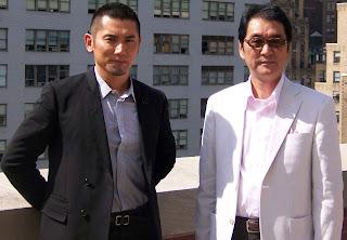 Masahiro Motoki and Yojiro Takitaand