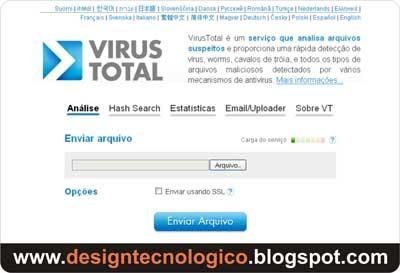 Verificar arquivo vírus