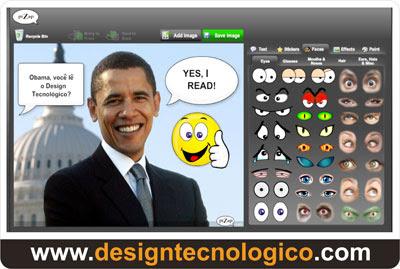 aplicação online divertir fotos