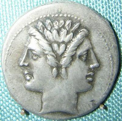 Janus, Roman god of doors and beginnings, Republican coin, ca.