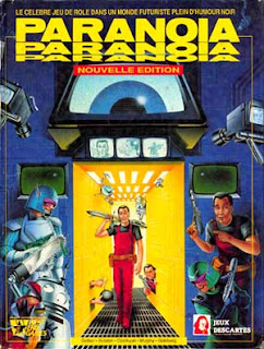 Portada de Paranoia, el juego de rol
