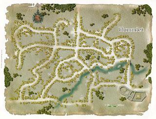 Mapa del pueblo Hommlet de D&D