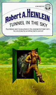 Book Cover of Tunnel in the Sky by Robert A. Heinlein