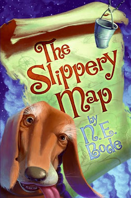 Book Cover Art for The Slippery Map by N.E. Bode