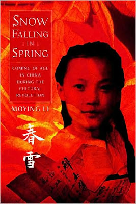 Book Cover Art for Snow Falling in Spring by Moying Li