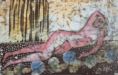 zorica, đuranić, art, act, pink, canvas, paintings, batik