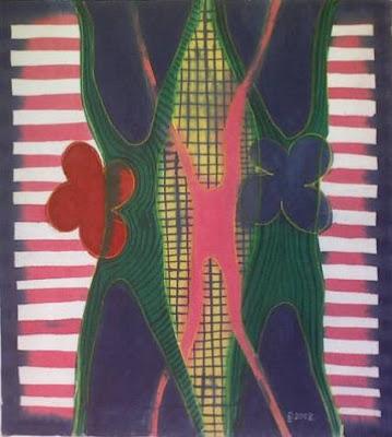 zorica, đuranić, abstract, art, canvas, paintings, blue, pink