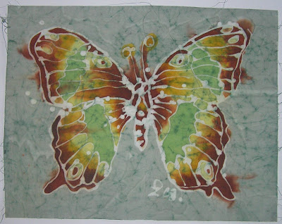 zorica, đuranić,art, batik, paintings, canvas, butterfly,